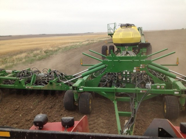 Seeding Brown Flax. Up next: Golden Flax.