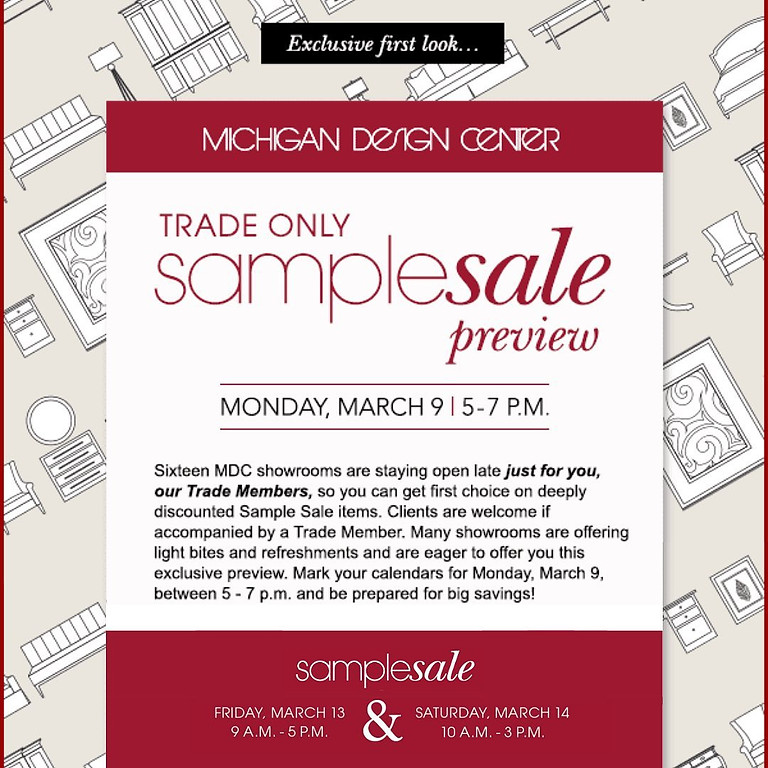 Sample Sale - TRADE ONLY PREVIEW @Michigan Design Center