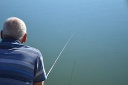 Newland angling club member fishing