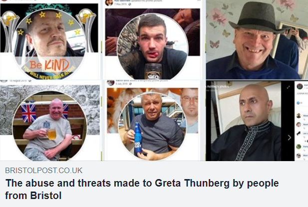 Screenshots of six people's social media pictures, some of them using the #BeKind hashtag.