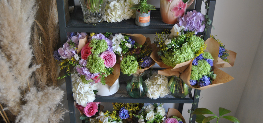Bar à bouquets mariage