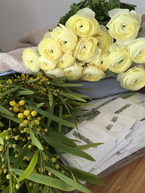 Fleurs de visite