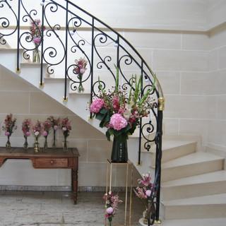 Fleurs escalier