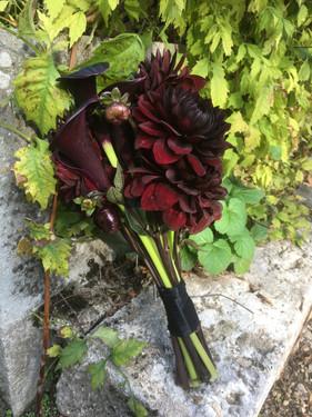 Bouquet de mariée noir
