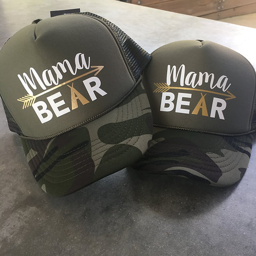 Mama BEAR with arrow and tent