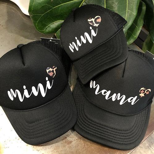 mama and 2 mini hat set