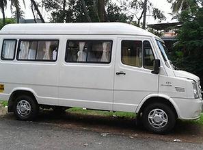 12+1 Kerala tourism tempo traveller , Kerala taxi service , Kerala Car rental