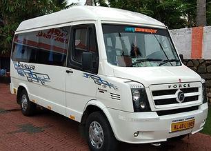 10+1 Kerala tourism tempo traveller , Kerala tourism taxi service