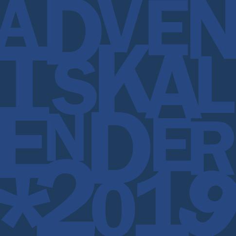 Försättssida adventskalenden 2019