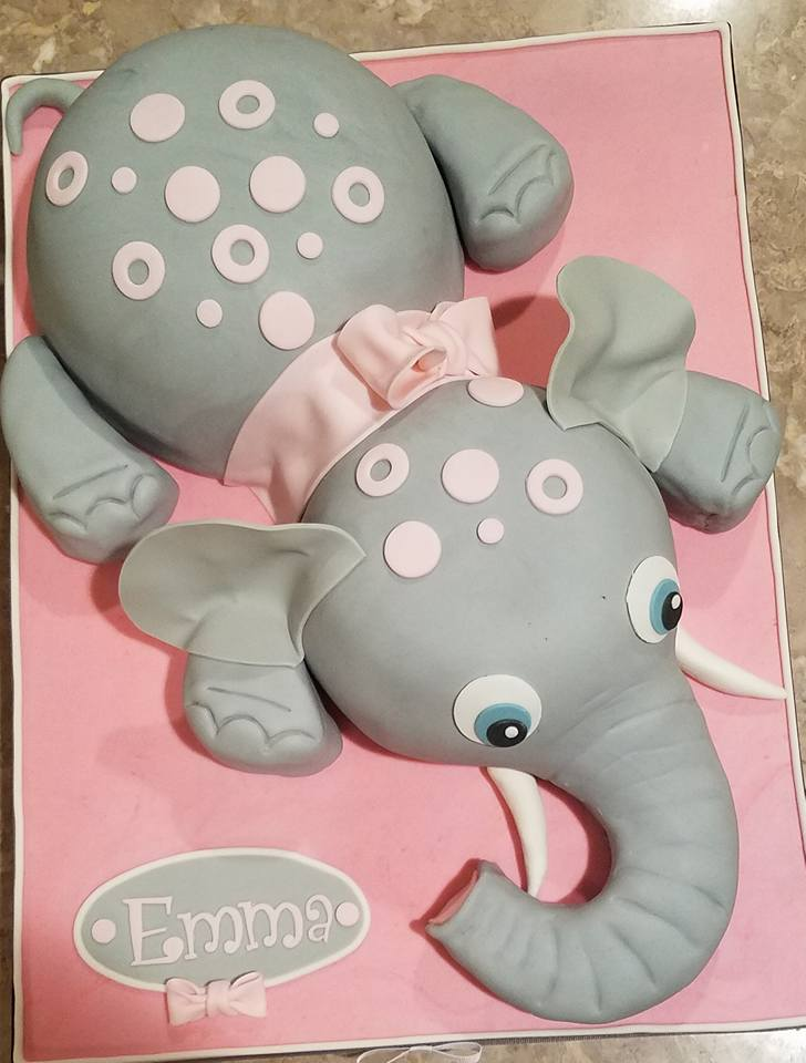 Pink Dots Elephant