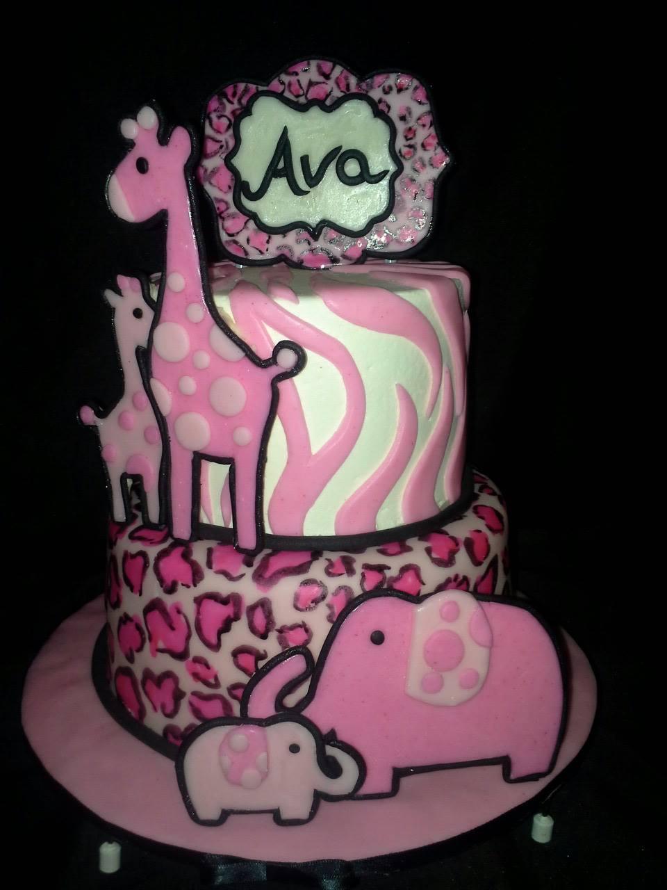Pink zebra elephan