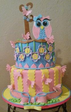 Owl & Butterflies