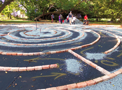 Labyrinth construction at Trinity progressing