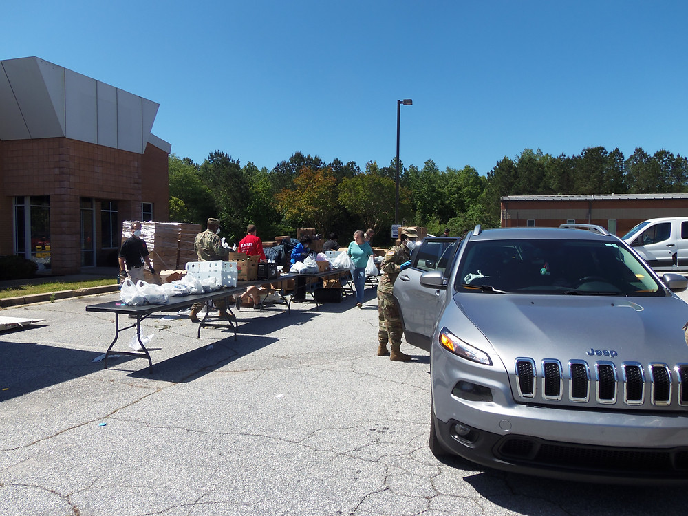 Second Harvest food distribution in Abbeville County