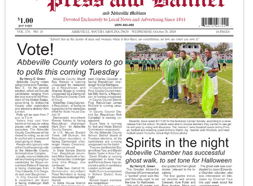 Oct. 28 e-edition ready for viewing