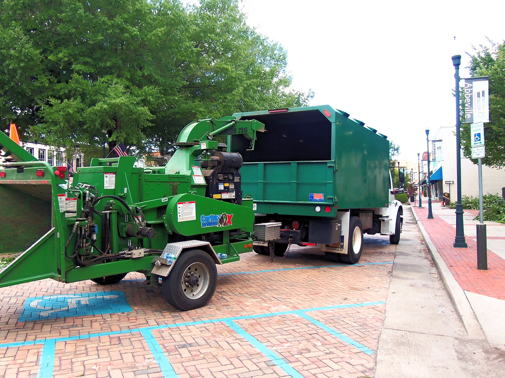 Abbeville City wood chipper for tree-trimming