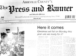 The Press and Banner sample page