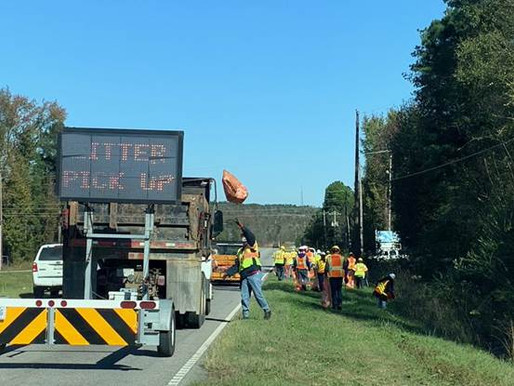 Results of SCDOT's Fall 2020 Statewide Litter Pickup
