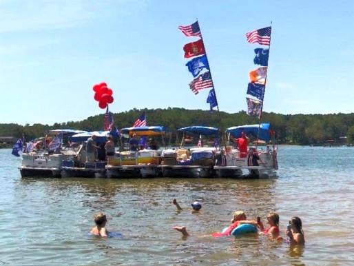 Pro-Trump boat parade held at Lake Secession