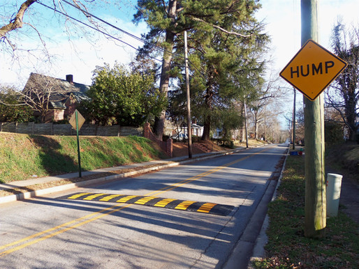 Speed bumps placed along Church Street