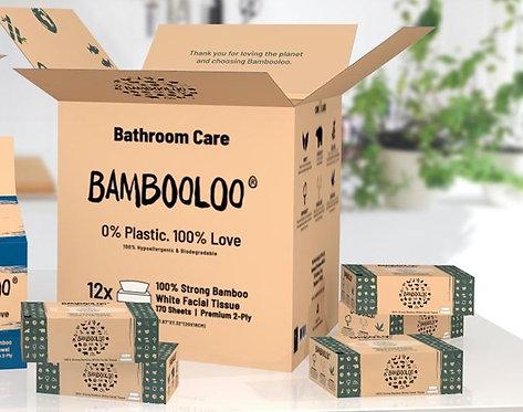 BAMBOOLOO® 100% Bamboo Facial Tissue (12 boxes per carton)