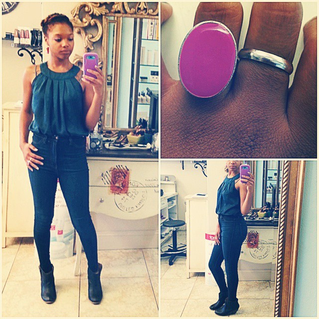 Instagram - Love these jeans :) #workflow #blue #highwaisted #skinnyjeans #ankle