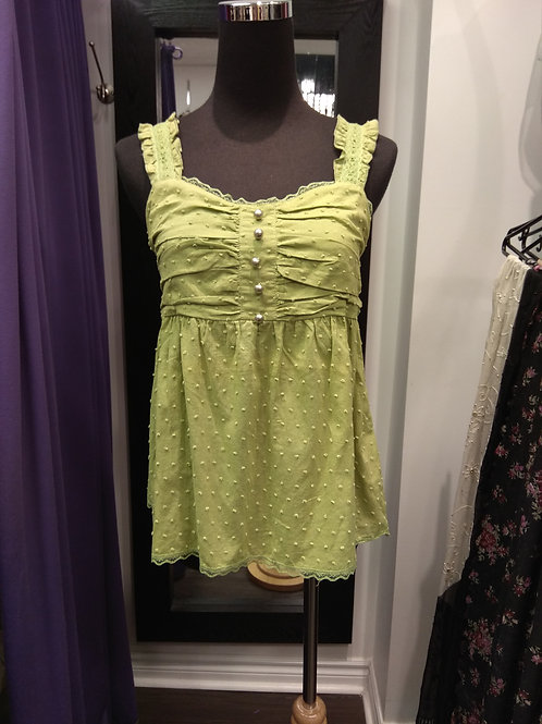 Girl apple green cotton vest