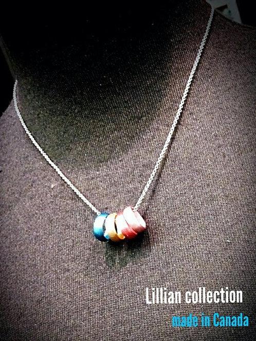 Metallic color loop jewelry set