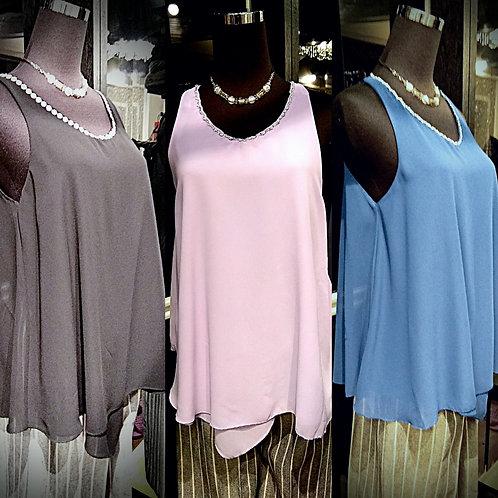 3 Different colors chiffon blouse