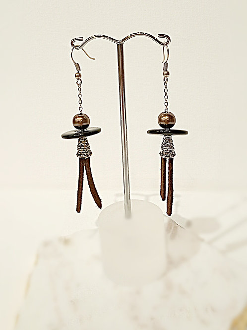 Adorable human doll dangle earrings
