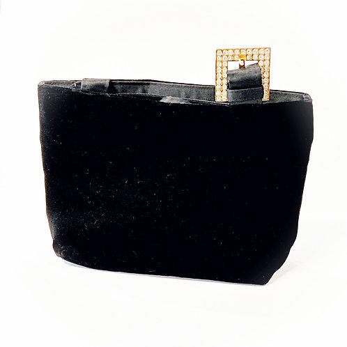 Gorgeous black velvet party bag