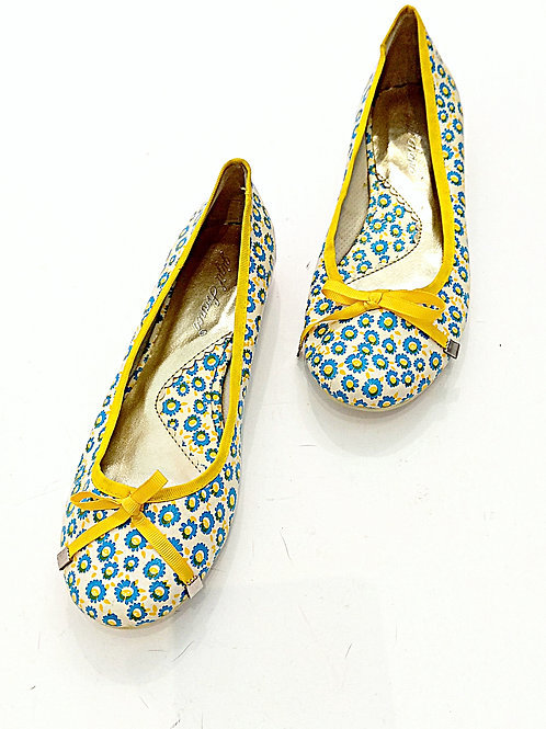 Soften little bow pattern flatted shoes