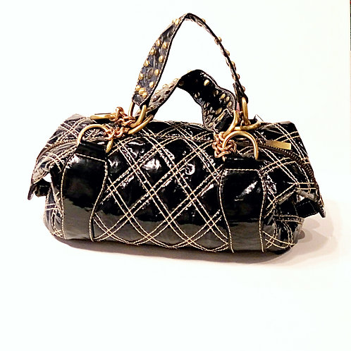 Black PVC handbag