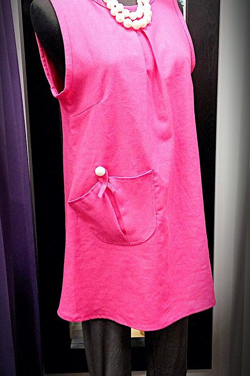 Comfort fushcia linen vest