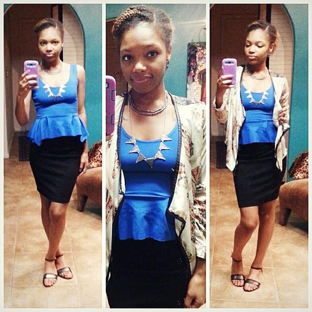 Instagram - Its my Friday!  #work #fashion #style #blue #peplum #statementjewelr