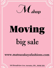 Moving big sale一starting on July 2018