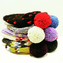 POM POM knitted warmth hat