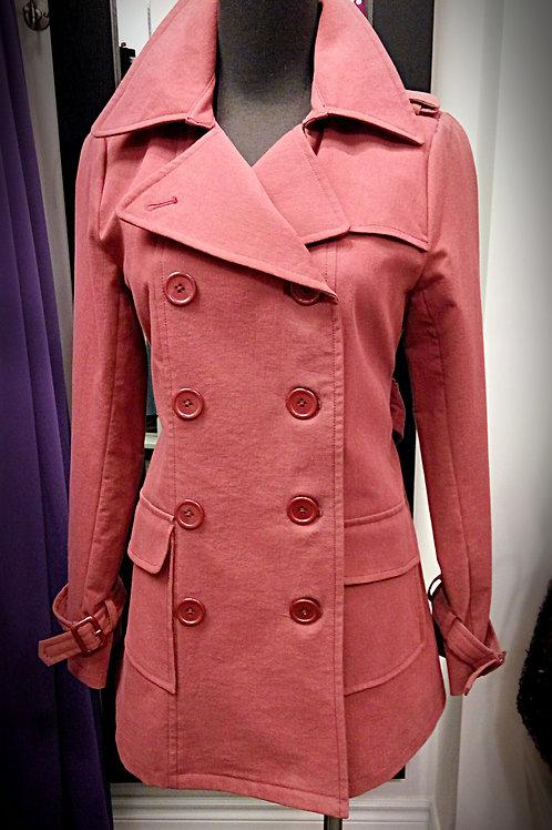 Classic burgundy waterproof fall jacket