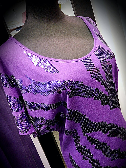 Purple cotton loop blouse