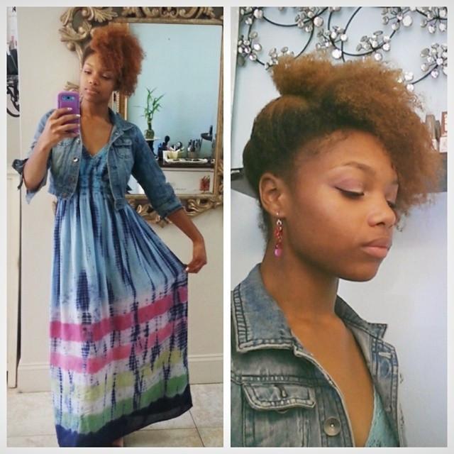 Instagram - 😀 #todayismyfriday #tyedye #fashion #updo #newearrings #earrings #p