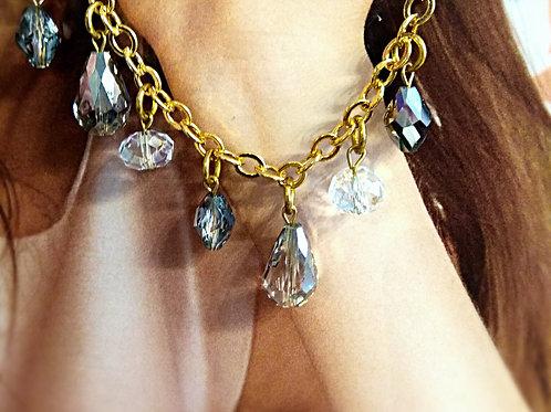 Genuine drip crystal  bracelet