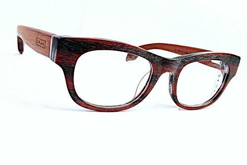 Unisex burgundy wood pattern frame