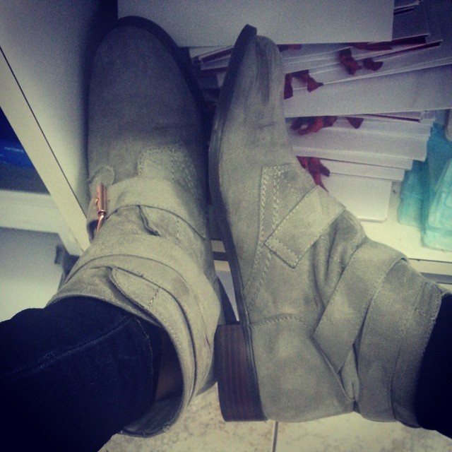 Instagram - I love these boots for many reasons 1. They're grey. I rarely find g
