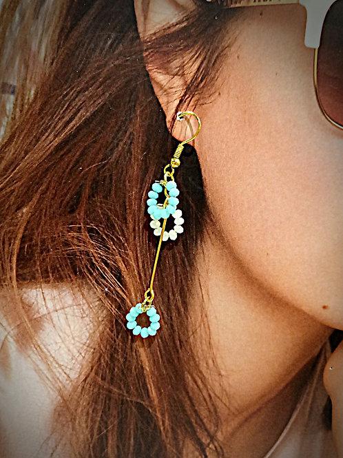Twinkle petite 2 tones crystal earrings