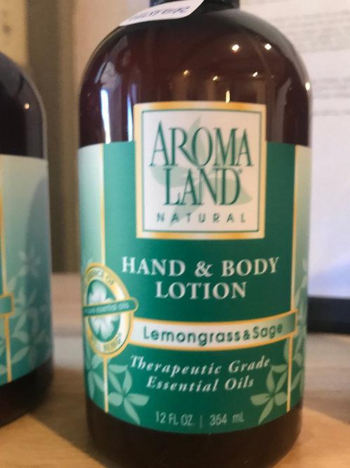 AromaLand Hand and Body Lotion LemonGrass and Sage