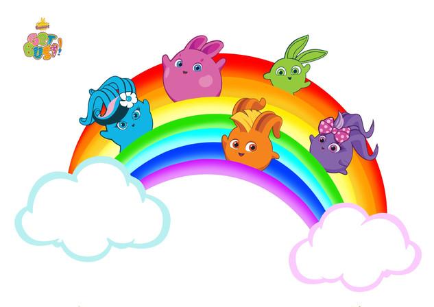 Sunny Bunnies Rainbow Colouring Sheet