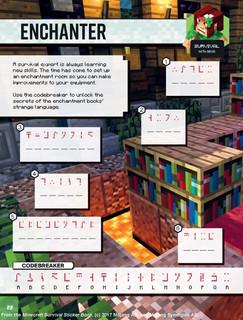 Minecraft Survival Sticker Book Spreads_
