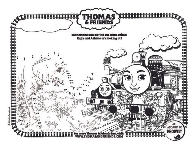 Thomas & Friends dot-to-dot Elephant_s.j