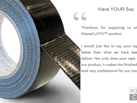 The latest KlasseCLOTH™ testimonial from one of our valued customers.
