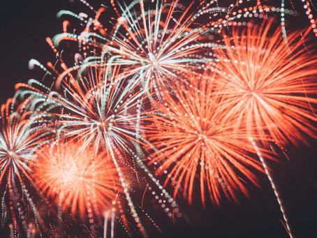 KlasseFOIL™ utilised for fireworks displays.